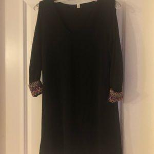 Short sheer black dress size medium